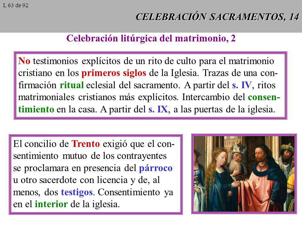 CELEBRACIÓN SACRAMENTOS, 14 Celebración litúrgica del matrimonio, 2 No testimonios explícitos de un rito de culto para el matrimonio cristiano en los