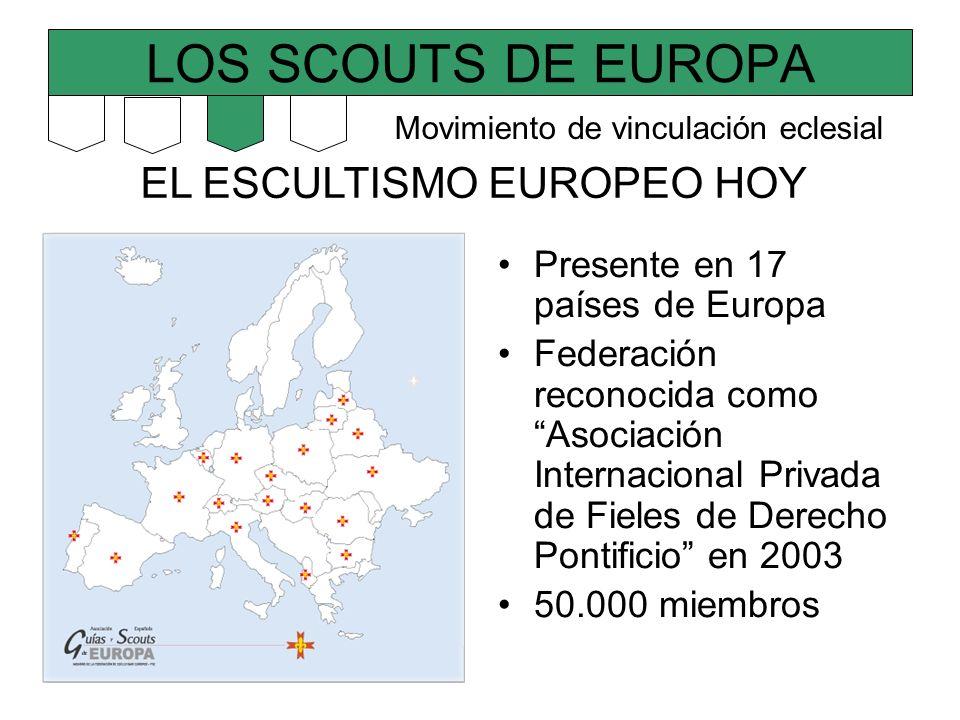 LOS SCOUTS DE EUROPA EL ESCULTISMO EUROPEO HOY Presente en 17 países de Europa Federación reconocida como Asociación Internacional Privada de Fieles d