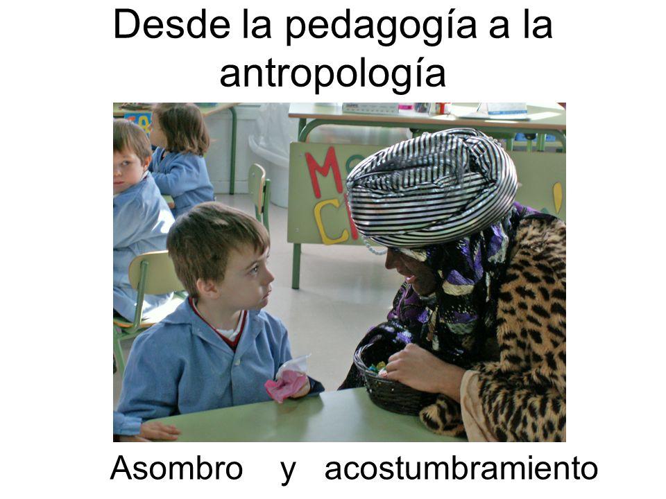 Desde la pedagogía a la antropología Asombro y acostumbramiento