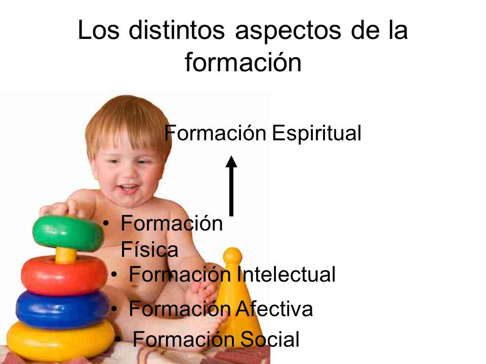 Los distintos aspectos de la formación Formación Física Formación Intelectual Formación Afectiva Formación Social Formación Espiritual