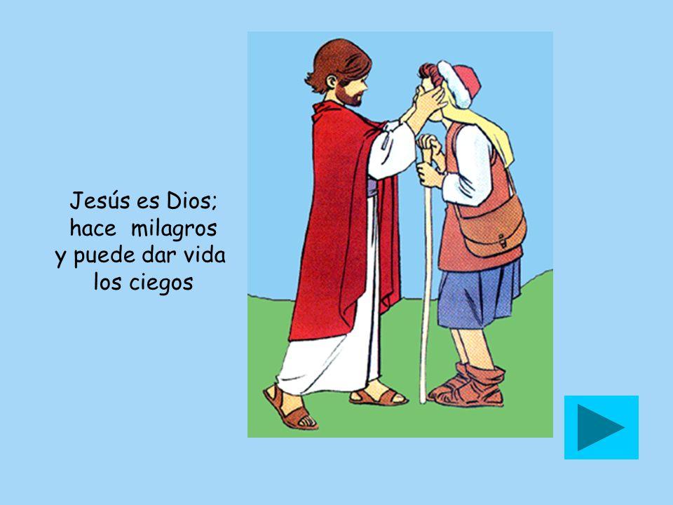 Jesús es Dios; hace milagros y puede dar vida los ciegos