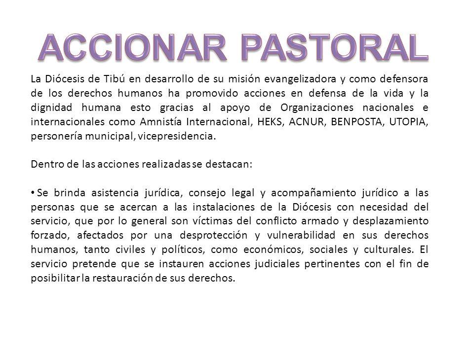 La Diócesis de Tibú en desarrollo de su misión evangelizadora y como defensora de los derechos humanos ha promovido acciones en defensa de la vida y l