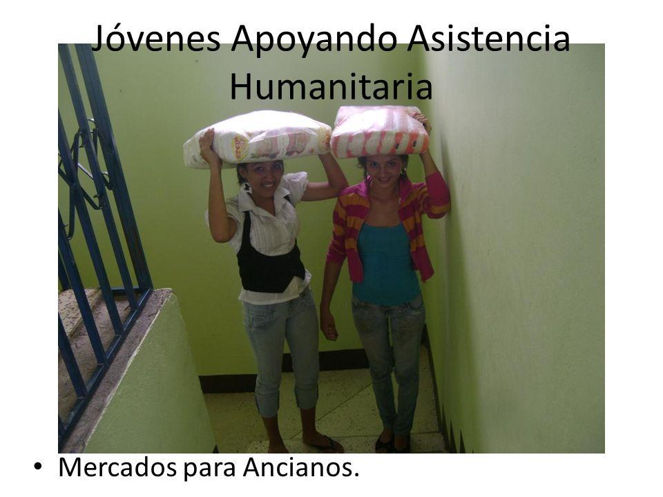 Jóvenes Apoyando Asistencia Humanitaria Mercados para Ancianos.