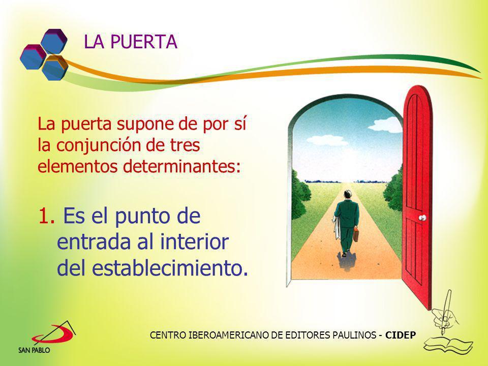 CENTRO IBEROAMERICANO DE EDITORES PAULINOS - CIDEP LA PUERTA La puerta supone de por sí la conjunción de tres elementos determinantes: 1. Es el punto