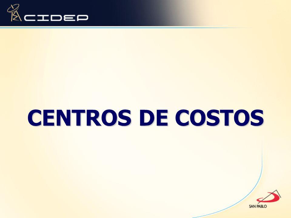 CENTROS DE COSTOS