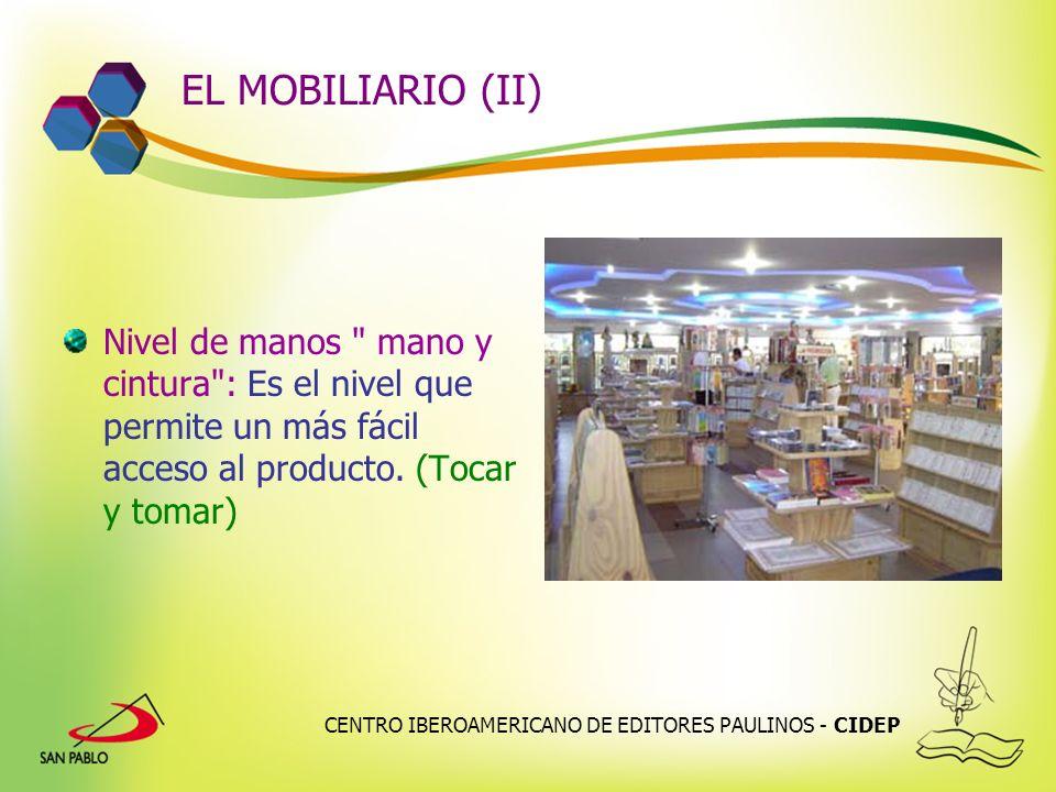 CENTRO IBEROAMERICANO DE EDITORES PAULINOS - CIDEP EL MOBILIARIO (II) Nivel de manos