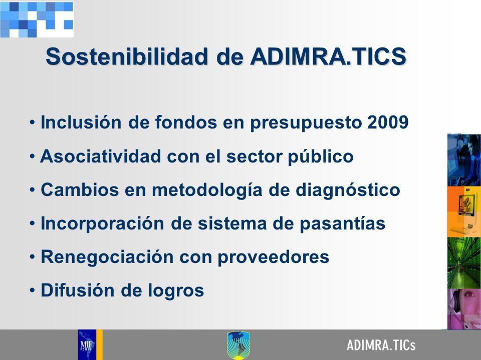 Inclusión de fondos en presupuesto 2009 Asociatividad con el sector público Cambios en metodología de diagnóstico Incorporación de sistema de pasantía