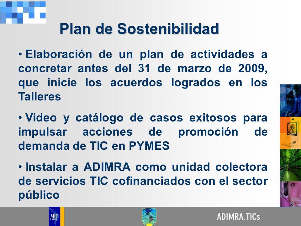 Elaboración de un plan de actividades a concretar antes del 31 de marzo de 2009, que inicie los acuerdos logrados en los Talleres Video y catálogo de