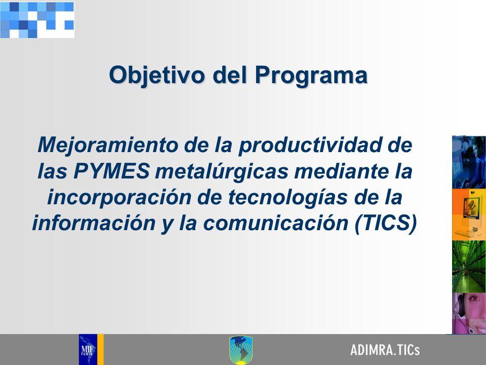 Mejoramiento de la productividad de las PYMES metalúrgicas mediante la incorporación de tecnologías de la información y la comunicación (TICS) Objetiv