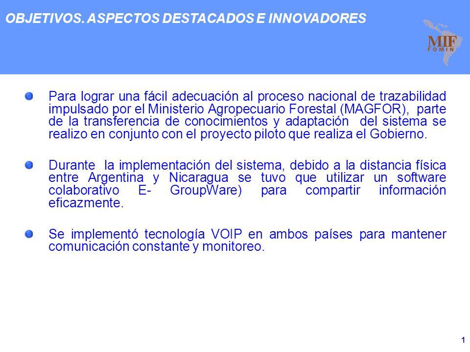 Fondo Multilateral de Inversiones Reunión de Clúster TIC 2009 Transferencia Tecnológica del Sistema de Trazabilidad de Carnes TRAZ.AR a Nicaragua (TRA