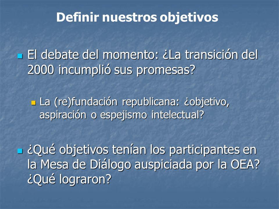 El debate del momento: ¿La transición del 2000 incumplió sus promesas.