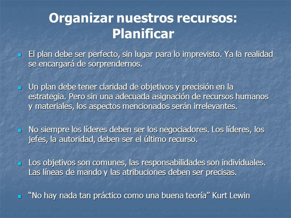 El plan debe ser perfecto, sin lugar para lo imprevisto.