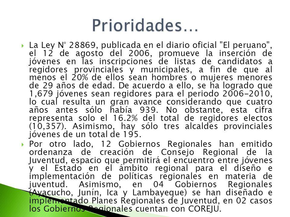 La Ley N° 28869, publicada en el diario oficial