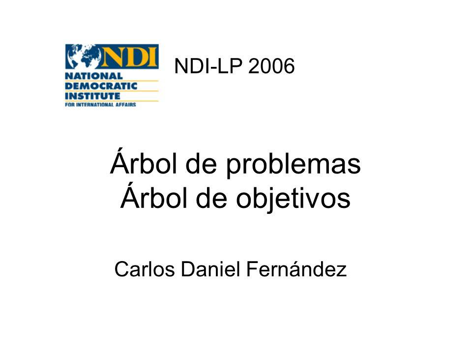 Árbol de problemas Árbol de objetivos Carlos Daniel Fernández NDI-LP 2006