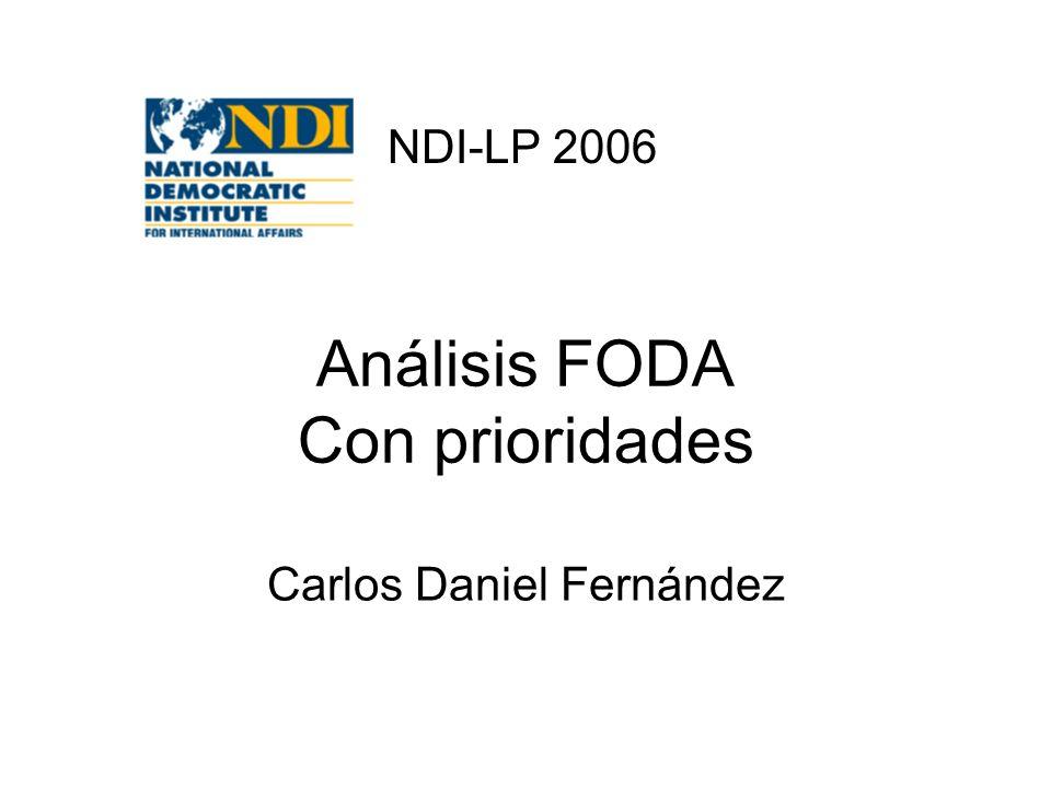 Análisis FODA Con prioridades Carlos Daniel Fernández NDI-LP 2006
