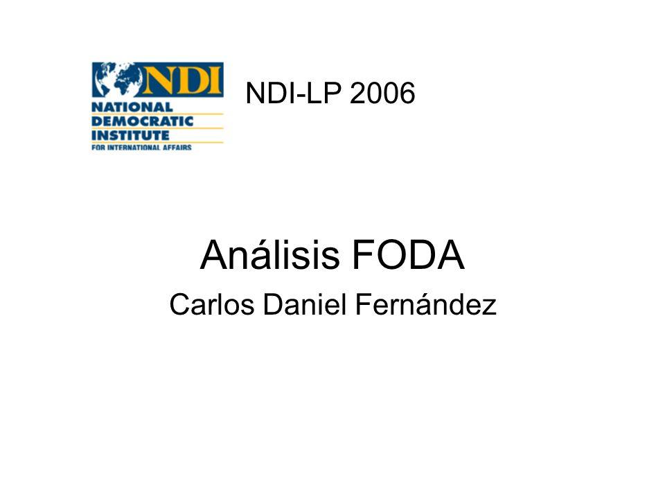 Análisis FODA Carlos Daniel Fernández NDI-LP 2006
