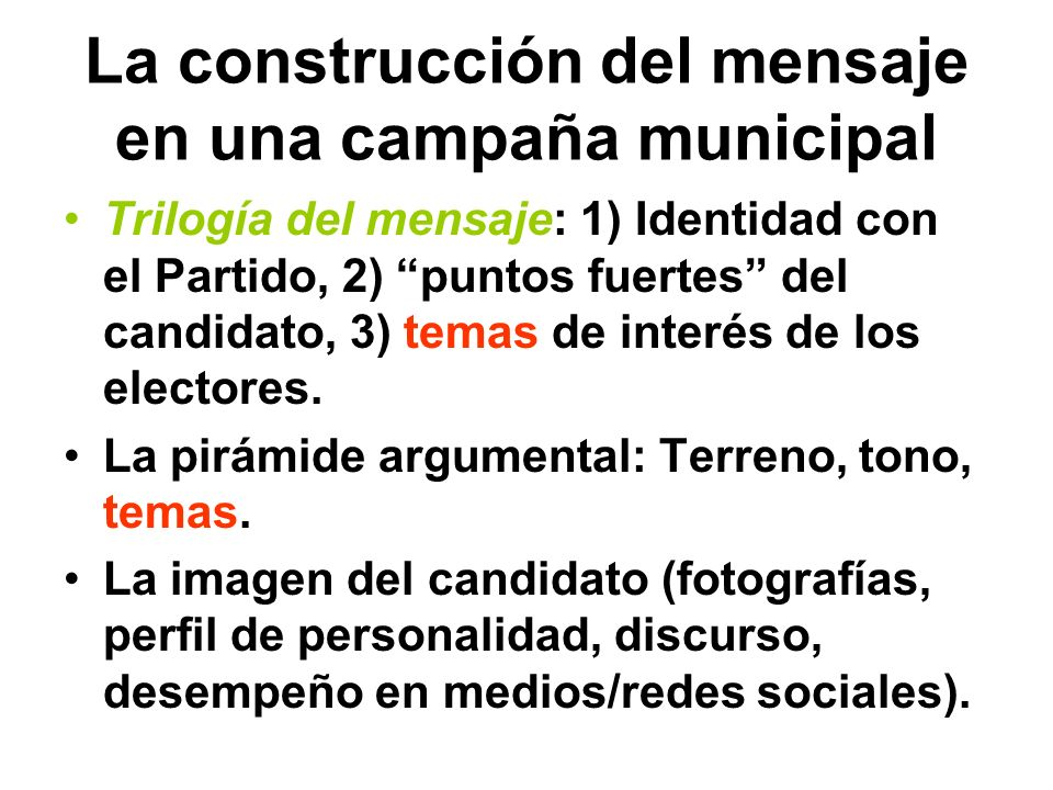 A tomar en cuenta… Las elecciones municipales son elecciones de cercanías y de conocidos. No busquemos un estadista, busquemos un hacedor. No hagamos