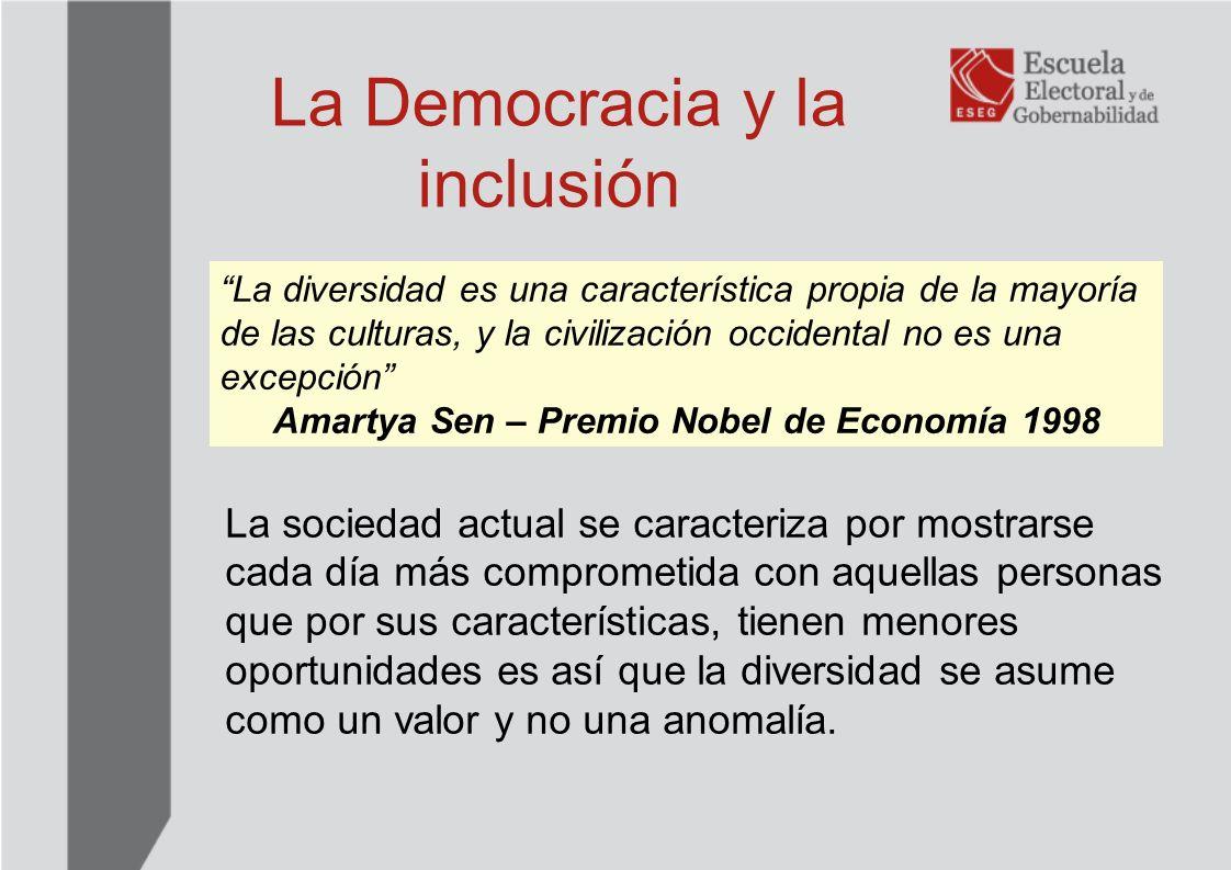 Mecanismos para la Inclusión: La valoración de la inclusión y el reconocimiento de la diversidad, se convierten en aspectos claves para una visión contemporánea de la democracia.