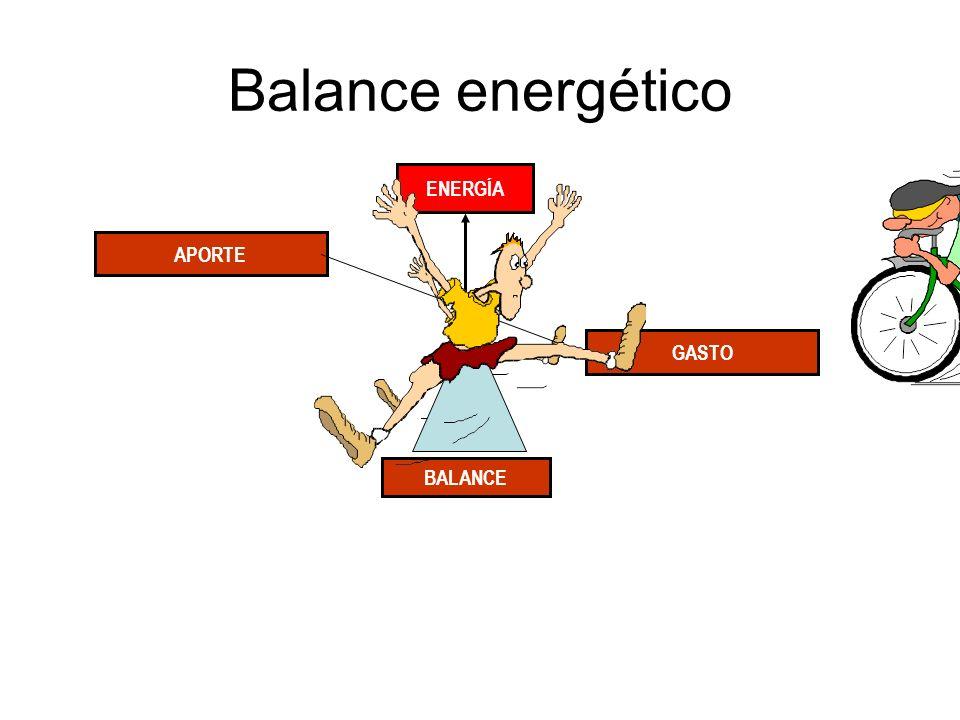 Balance energético APORTE BALANCE GASTO ENERGÍA