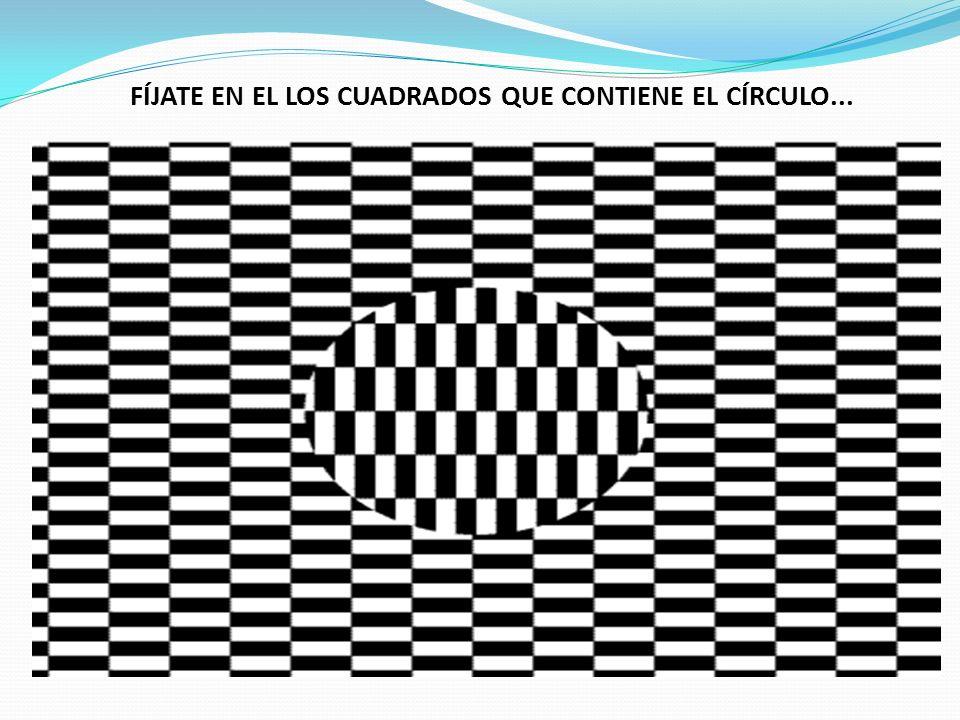 FÍJATE EN EL LOS CUADRADOS QUE CONTIENE EL CÍRCULO...