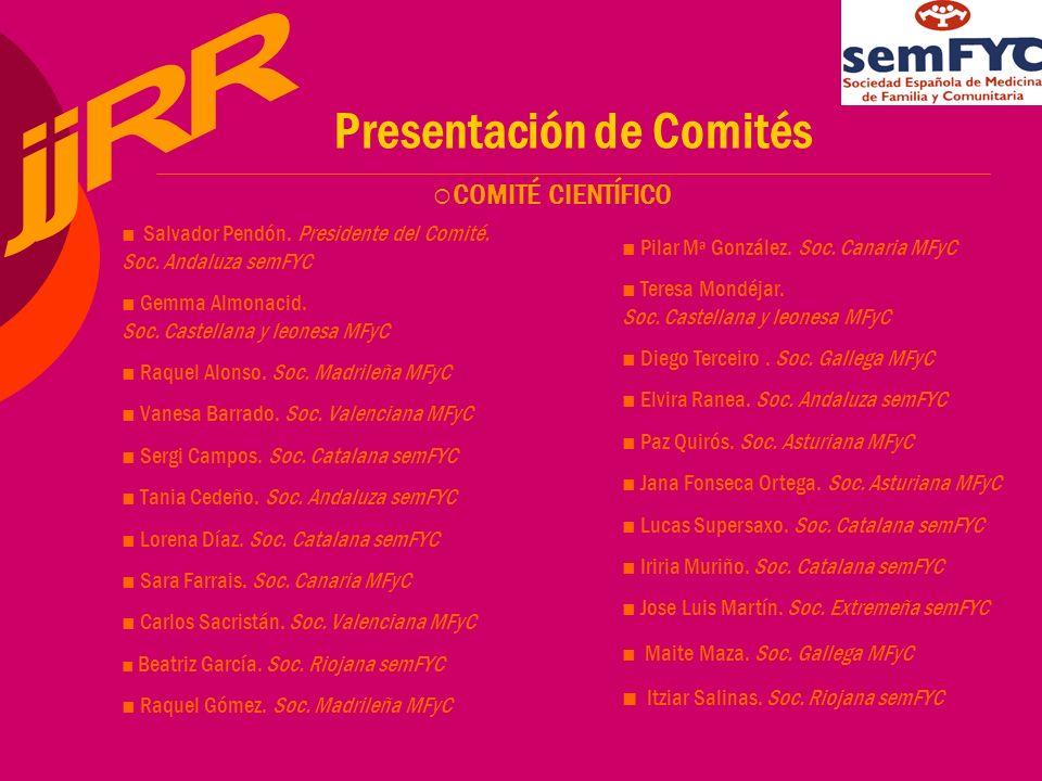 Presentación de Comités Salvador Pendón. Presidente del Comité.