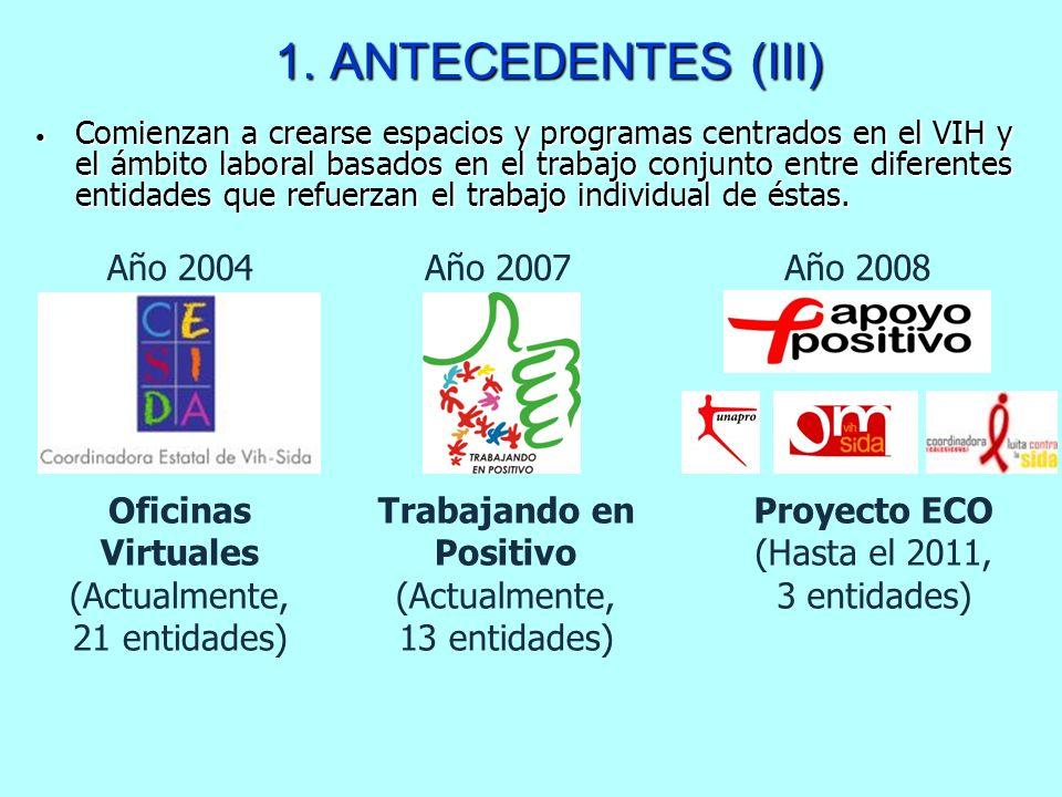 Comienzan a crearse espacios y programas centrados en el VIH y el ámbito laboral basados en el trabajo conjunto entre diferentes entidades que refuerz