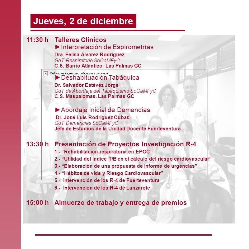 11:30 hTalleres Clínicos Interpretación de Espirometrías Dra. Felisa Álvarez Rodríguez GdT Respiratorio SoCaMFyC C.S. Barrio Atlántico. Las Palmas GC