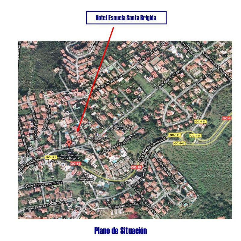 Plano de Situación Hotel Escuela Santa Brígida