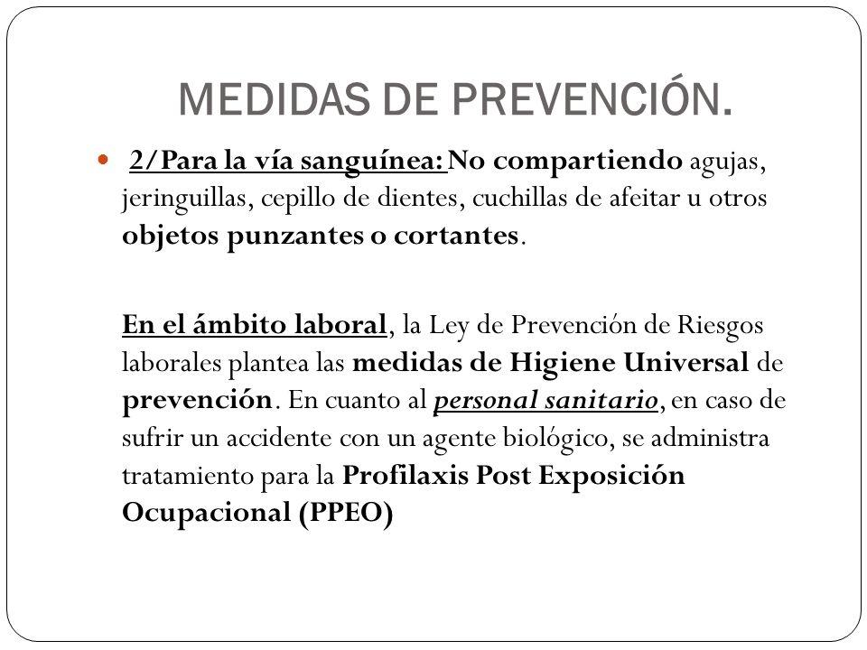 MEDIDAS DE PREVENCIÓN.
