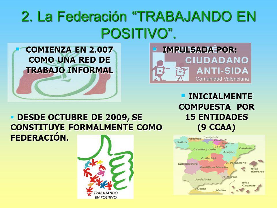 2. La Federación TRABAJANDO EN POSITIVO.