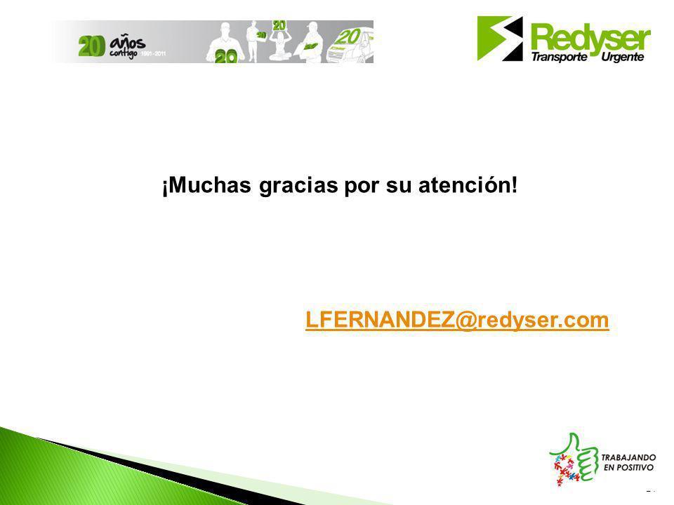 21 ¡Muchas gracias por su atención! LFERNANDEZ@redyser.com