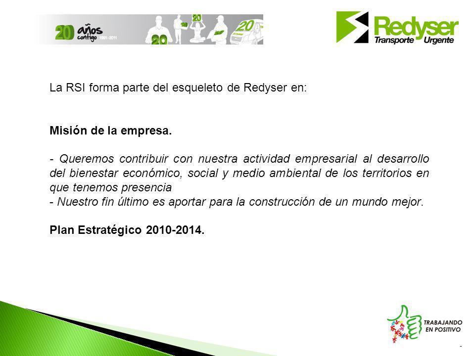 5 La RSI forma parte del esqueleto de Redyser en: Misión de la empresa.