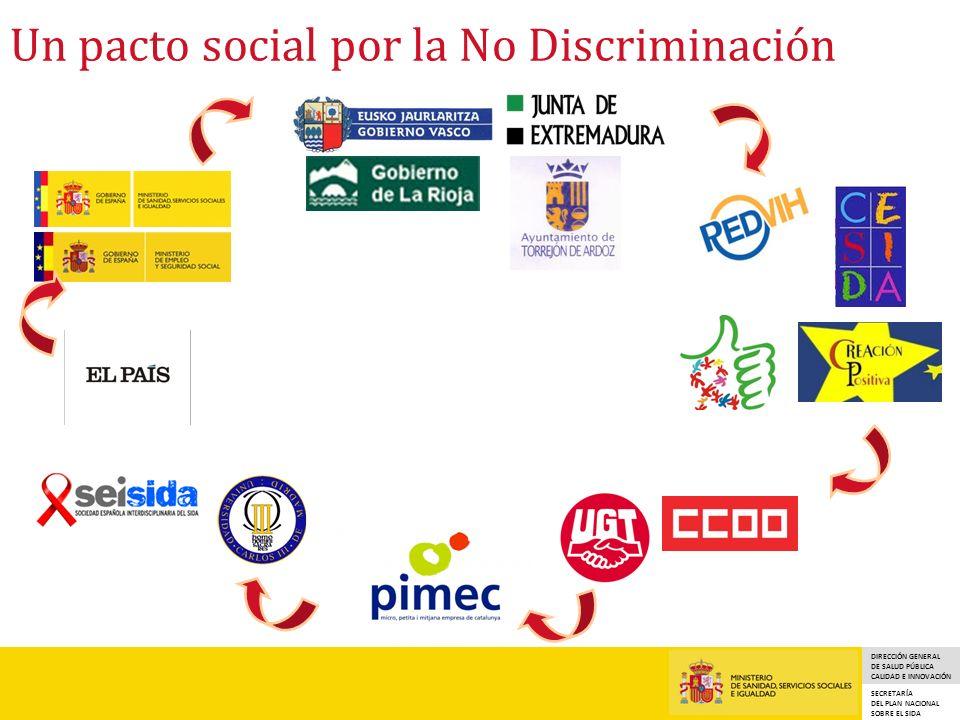 DIRECCIÓN GENERAL DE SALUD PÚBLICA CALIDAD E INNOVACIÓN SECRETARÍA DEL PLAN NACIONAL SOBRE EL SIDA Un pacto social por la No Discriminación