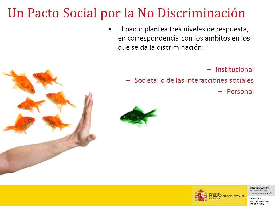 DIRECCIÓN GENERAL DE SALUD PÚBLICA CALIDAD E INNOVACIÓN SECRETARÍA DEL PLAN NACIONAL SOBRE EL SIDA Un Pacto Social por la No Discriminación El pacto p