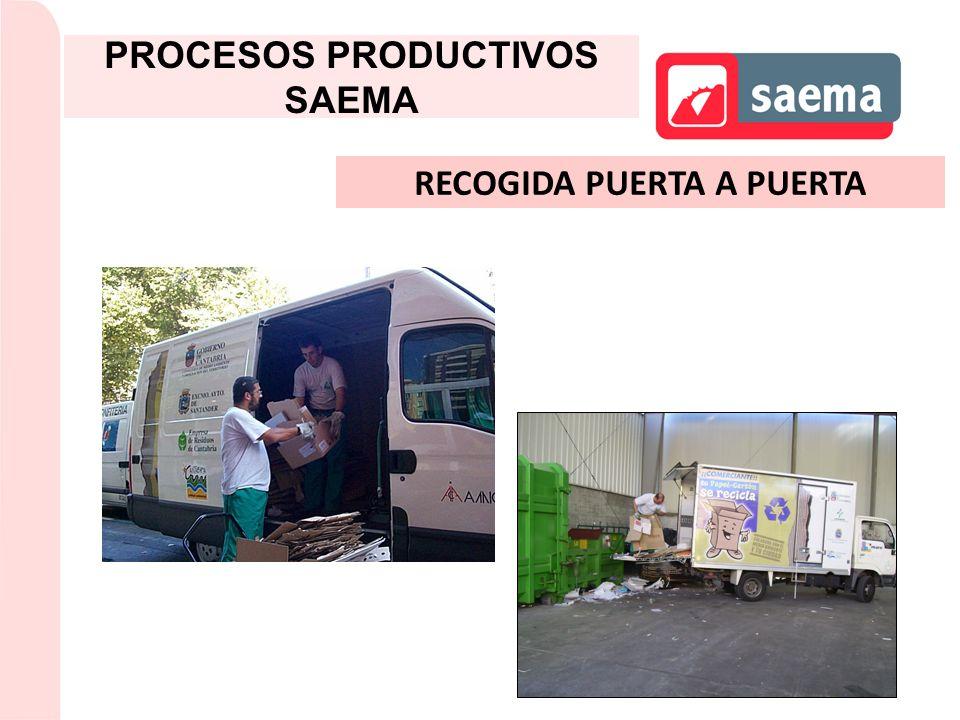 RECOGIDA PUERTA A PUERTA PROCESOS PRODUCTIVOS SAEMA