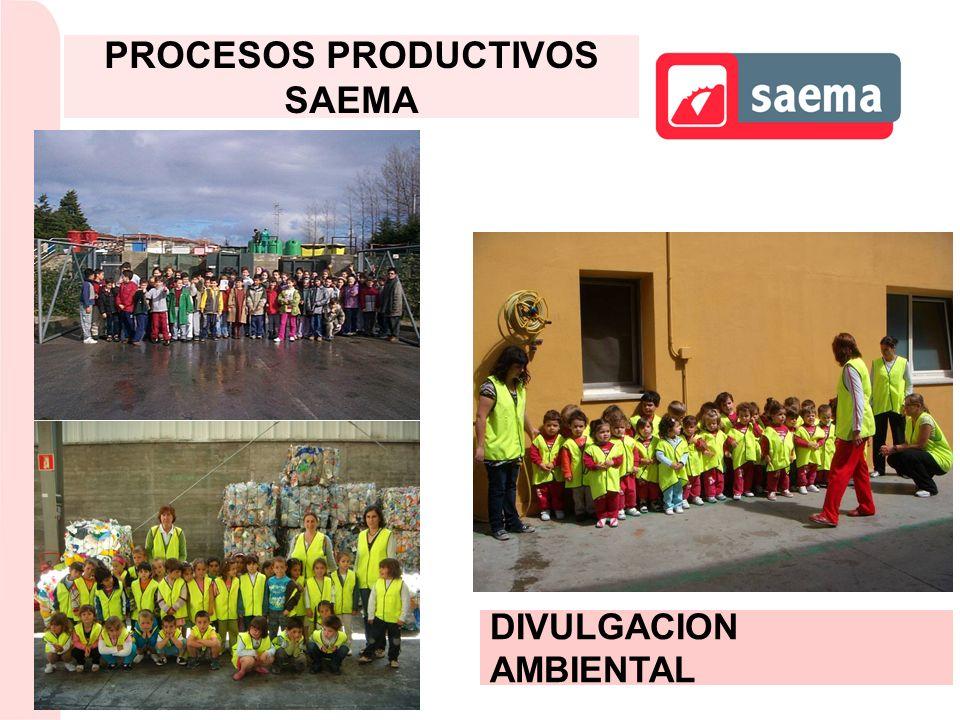 DIVULGACION AMBIENTAL PROCESOS PRODUCTIVOS SAEMA