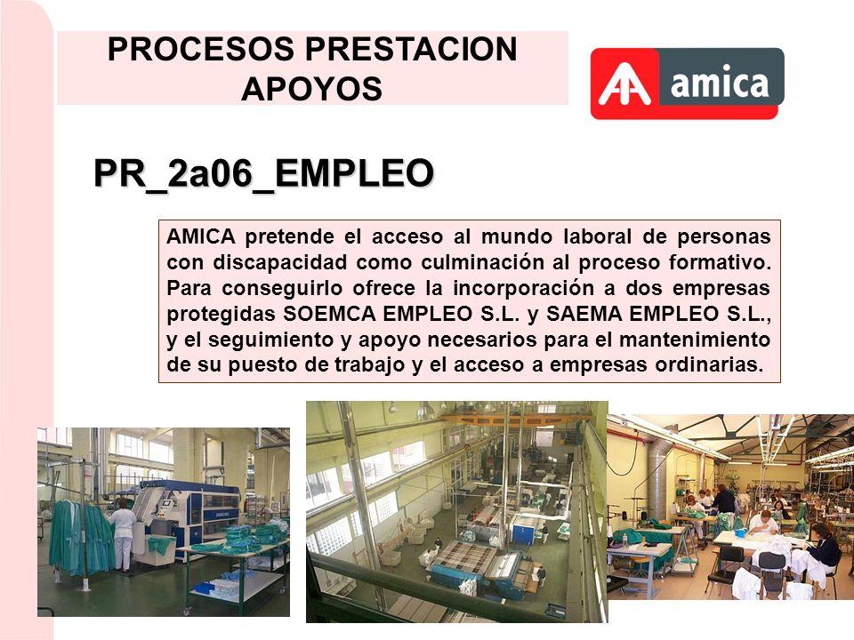 PR_2a06_EMPLEO AMICA pretende el acceso al mundo laboral de personas con discapacidad como culminación al proceso formativo. Para conseguirlo ofrece l