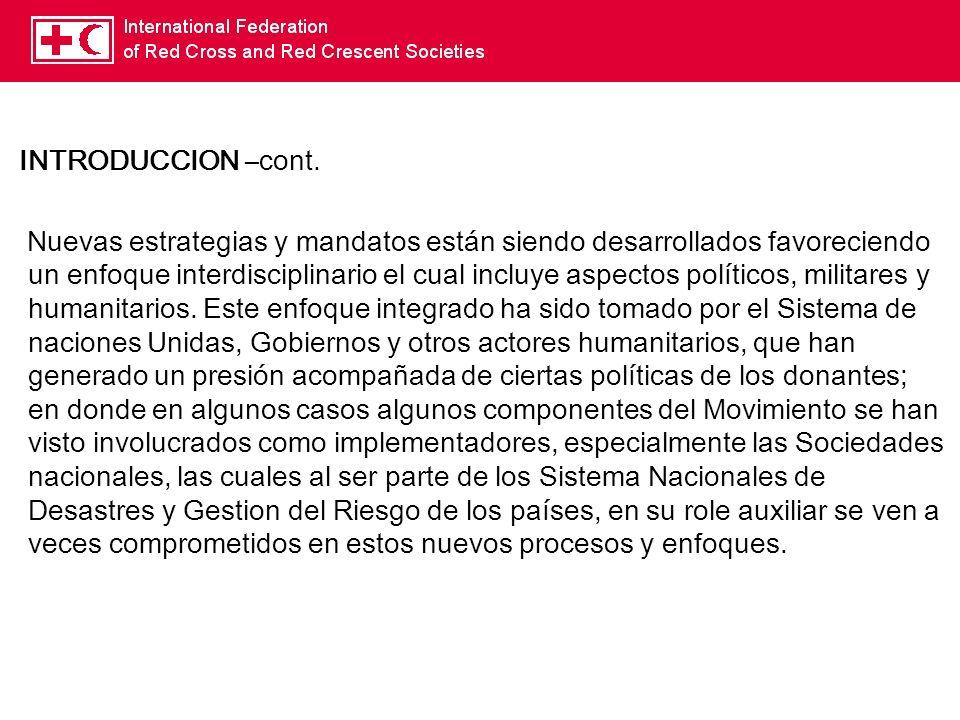 Movimiento de la Cruz Roja y Media Luna Roja - cont: Código de Conducta.