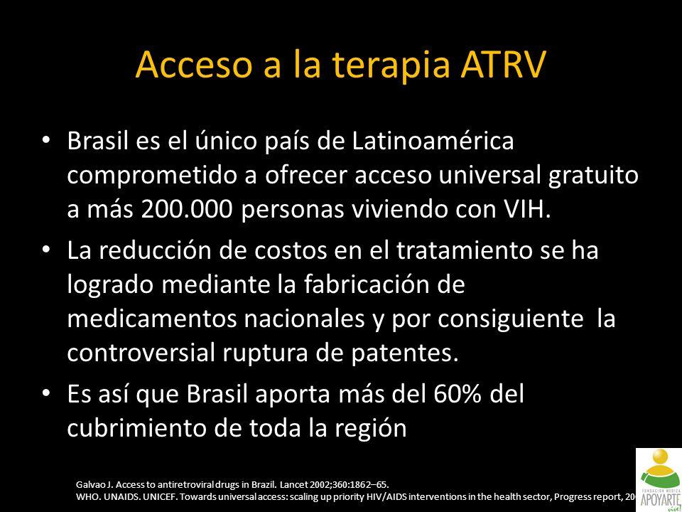Brasil es el único país de Latinoamérica comprometido a ofrecer acceso universal gratuito a más 200.000 personas viviendo con VIH.