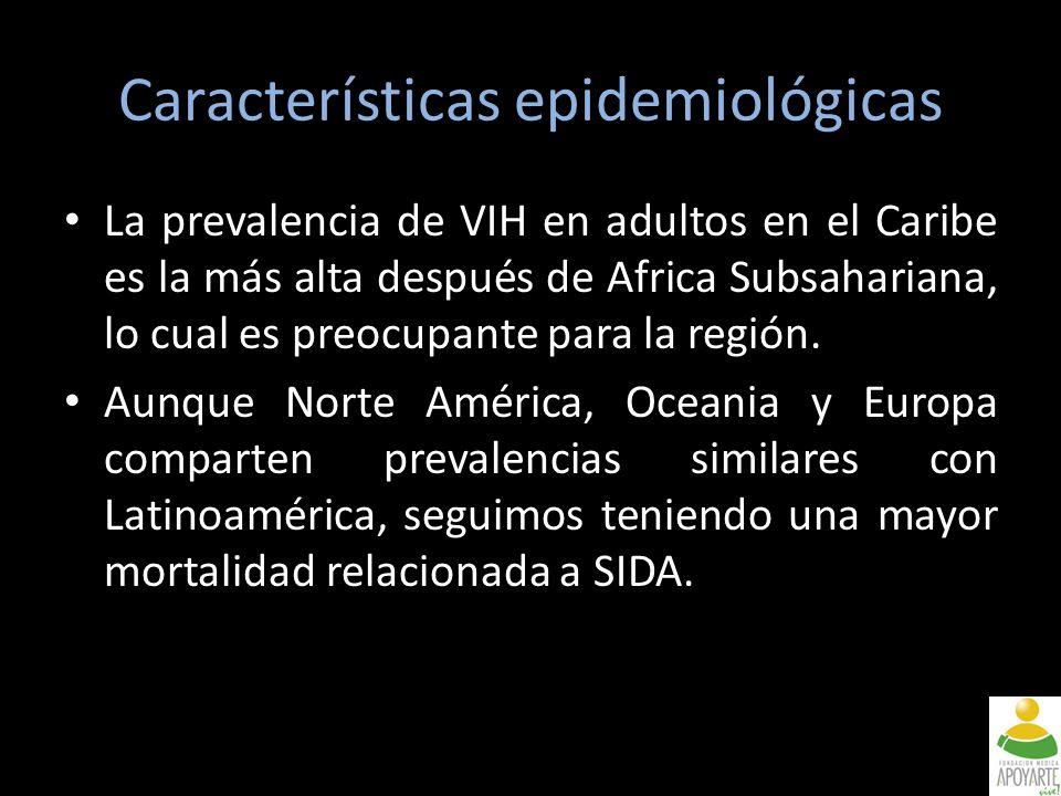 La prevalencia de VIH en adultos en el Caribe es la más alta después de Africa Subsahariana, lo cual es preocupante para la región.