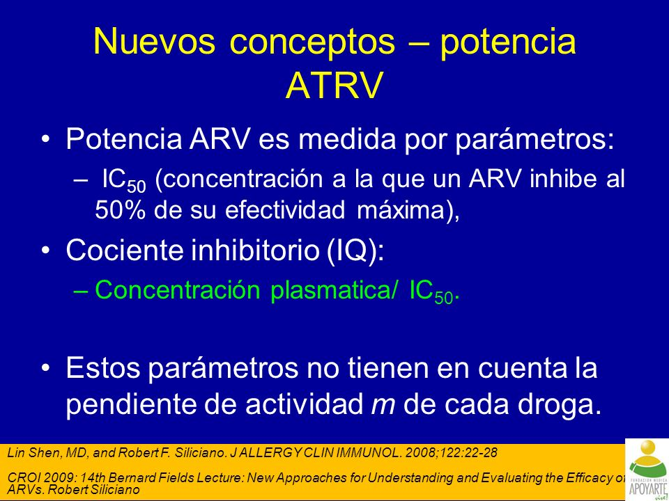 Demografía y antecedentes ATRV Parámetro, % ETR + BR (n=599) Placebo + BR (n=604) Género Masculino9089 Raza Caucásico70 Negro13 Latino1112 Uso previo de ARV Numero de ARVs previamente tomados (media)1213 DRV/r45 Uso previos de NVP5759 Uso previo de EFV7072 Mutaciones Detectables 2 INNTR MARs*69 3 IPs primarias MARs 97 BR Uso de ENF (total)4647 Reuso de ENF20 Uo ENF de novo26 No uso de ENF5553 Agentes activos de base (SSf) = 01716 Agentes activos de base (SSf) = 13739 ARVs = antiretrovirals; EFV = efavirenz; ETR = etravirine; BR = background regimen; ENF = enfuvirtide; MAR = Mutación asociada a Resistencia; IP = inhibidor de proteasar; SSF = Score de Sensibilidad fenotipica; NVP = nevirapine *De la lista extendida de MAR de INNTR (Tambuyzer L, et al.