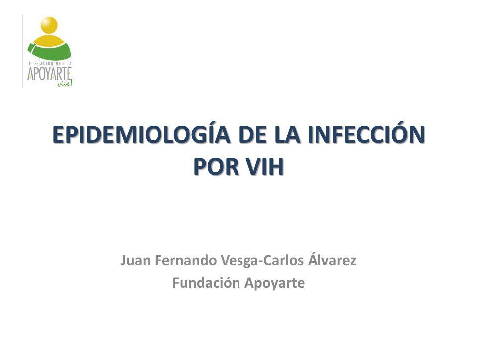 Juan Fernando Vesga-Carlos Álvarez Fundación Apoyarte IMPLEMENTACIÓN DE MODELOS DE ATENCIÓN PARA VIH EPIDEMIOLOGÍA DE LA INFECCIÓN POR VIH