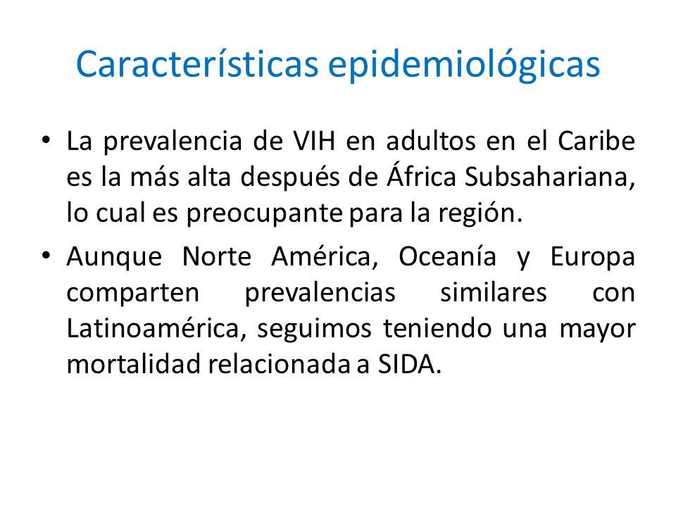 La prevalencia de VIH en adultos en el Caribe es la más alta después de África Subsahariana, lo cual es preocupante para la región. Aunque Norte Améri
