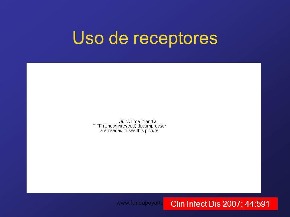www.fundapoyarte.org Uso de receptores Clin Infect Dis 2007; 44:591