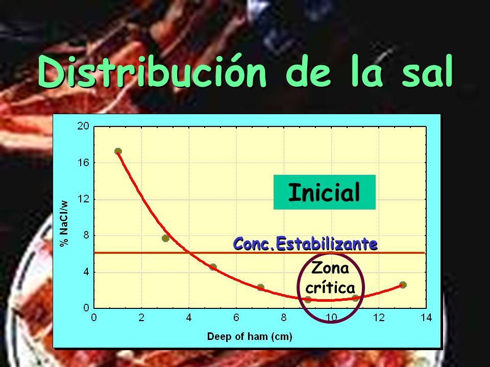 4 4,5 5 5,5 6 6,5 Na Cl pH 6,5 6,0 5,5 5,0 Temperatura 15 20 25 30 35 Condiciones para inhibir a los clostridios Condiciones para inhibir a los clostr