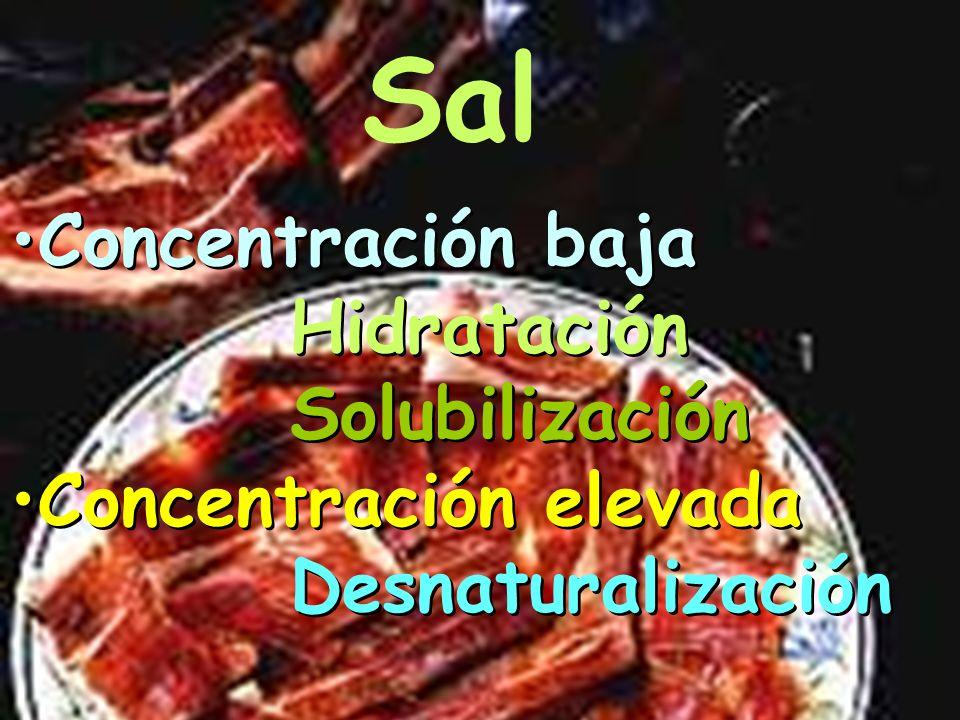 DESNATURALIZACIÓN Textura Típica Sal Temperatura DESNATURALIZACIÓN Textura Típica Sal Temperatura