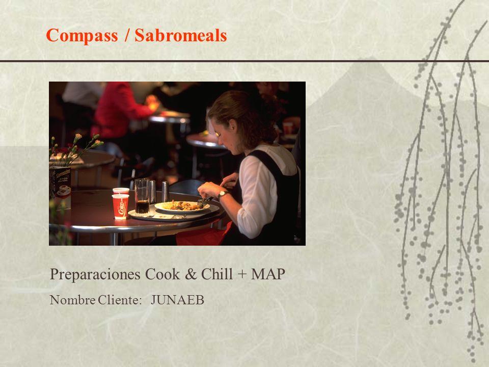 Compass / Sabromeals Preparaciones Cook & Chill + MAP Nombre Cliente: JUNAEB