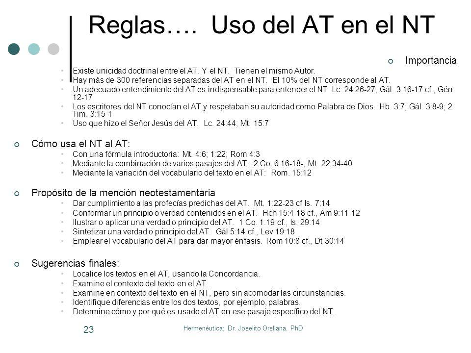 Hermenéutica; Dr. Joselito Orellana, PhD 22 Reglas…. Profecía Importancia de interpretar la profecía. El 25% del contenido de la Biblia es profecía. D