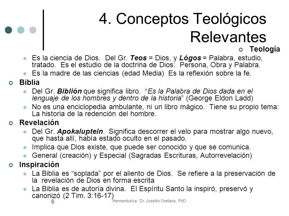 Hermenéutica; Dr.Joselito Orellana, PhD 6 4.