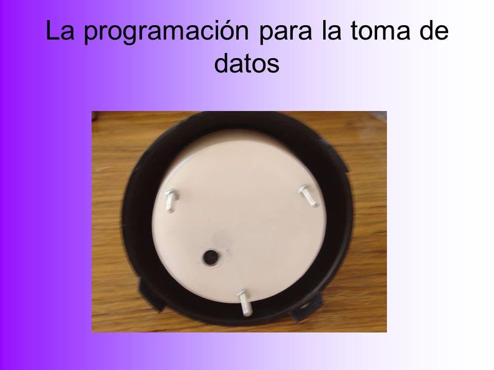 La programación para la toma de datos